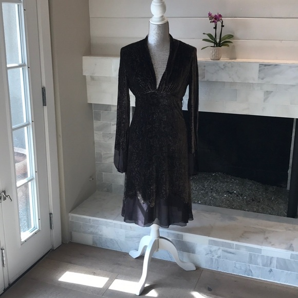 Elie Tahari Dresses & Skirts - Elie Tahari Brown Velvet Dress Preloved!